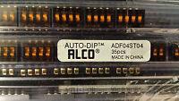 4 WAY DIP SWITCH:   ALCO/TYCO    ADF04ST04      (X2)  (b4)