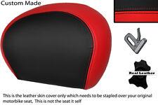 Negro Y Rojo Custom encaja Piaggio Vespa 125 250 300 Gts Cuero Respaldo cubierta
