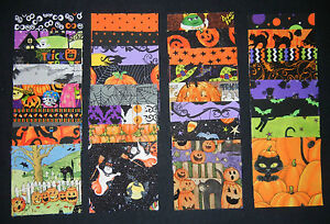 """5"""" charm pack Halloween fabric squares 40 quilt blocks"""