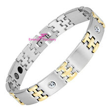 Magnetic Bracelet - Ladies or Mens Premium Gold Steel ARTHRITIS PAIN RELIEF