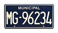 The Walking Dead | Rick Grimes Sheriff | MG-96234 | STAMPED Prop License Plate