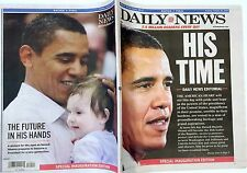 FREE DAILY NEWS Jan. 20/09 President Obama HIS TIME Collector's Sold Out Issue