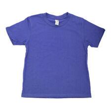 T-shirts, hauts et chemises bleus coton mélangé Longueur de manches Manches courtes pour fille de 2 à 16 ans