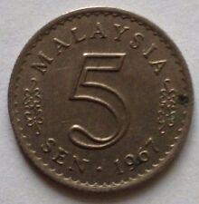 Malaysia 5 sen 1967 coin