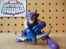 Marvel Super Hero Squad RARE HAWKEYE Silver Bow / Red Arrows NOT RELEASED IN USA