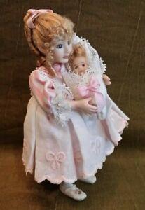Dollhouse Miniature Porcelain Doll by Pat Melvin