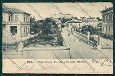 Milano Meda ABRASA PIEGATA cartolina QQ8146
