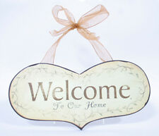 """""""Welcome to Our Home"""" Heart Shaped Plaque Indoor Decor & Wall Accents"""