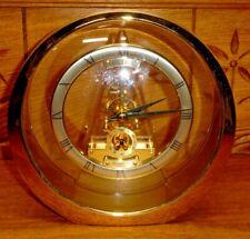 Round Seiko Quartz Japan SNND QAW113G 12502 Skeleton Clock