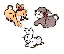 HASEN Rabbit Kaninchen Create Aufnäher Aufbügler Patch Applikation #9493