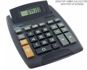 EXTRA LARGE Tilt Display Jumbo Desktop Calculator Big Button School Office Desk