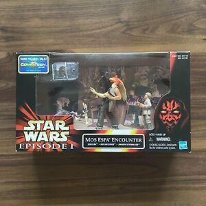 Retro Star Wars Episode 1 One - Mos Espa Encounter - Cinematic Scene Toy Set Box