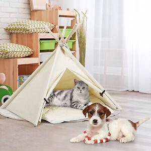 Tipi Tierzelt mit Kissen Hundezelt Katzenzelt Haustierzelt Haustierbett Hunde