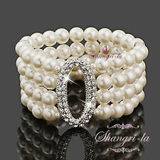 Pearl 18k Bracelet Wedding Party Jewellery