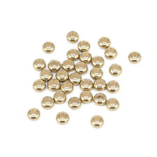 1000pcs Unplated Brass Metal Beads Tiny Smooth Loose Spacers Nickel Free 3x2mm