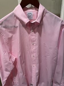NWOT Brooks Brothers Regent Fit Light Pink Long Sleeve Oxford Shirt Sz Medium