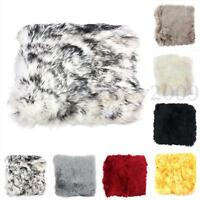 Sheepskin Long Wool Chair Sofa Cushion Car Seat Cover 8 Colors  NEW