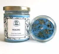 Healing Soy Candle for Grief, Loss, Stress & Emotional Turmoil Spells & Rituals