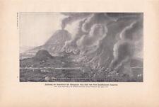 Vesuv Ausbruch Lavastrom 1774 Zerstörungen DRUCK von 1903 Vesuvio