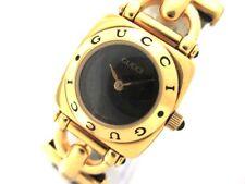 Auth GUCCI 6300L Black 0062585 Women's Wrist Watch