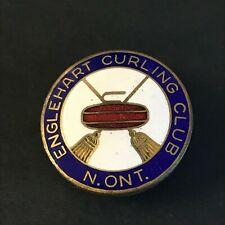 New listing VINTAGE CURLING PIN ENGLEHART CURLING CLUB N. ONT.