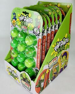 POPPOPS SNOTZ Display Box & SEVEN Packages of 12 Slime Poppers 6 - S1 & 1 - S2