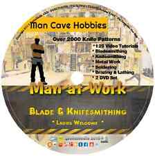 Bladesmithing & Knife Making Library 125 Video Tuts 100 Books Learn at Home DVD