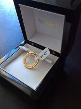 amazing versace yellow 18k sapphire ring retail $5400!!!!!!!!!