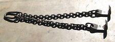 12 Ton CM 2 Way Hook 3/4 Chain Sling Lifting Machine Tool Die makers Lift Hoist
