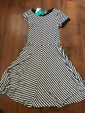 Ladies Flare Dress from Fever Clothing in Navy Stripe  RRP £75 BNWT