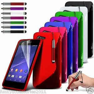 Quality Slim Sports Wave Gel Shock Protection Phone Case✔Sony Xperia E3