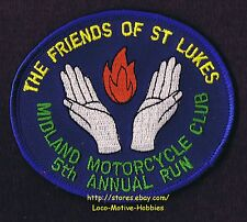 LMH PATCH Badge  1999 MIDLAND MOTORCYCLE CLUB RUN Friends St Lukes Cancer DUBLIN
