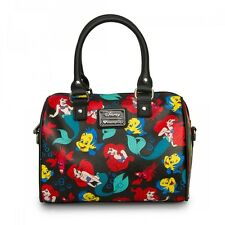 LOUNGEFLY Handbag Bag DISNEY Purse LITTLE MERMAID ARIEL Crossbody Duffle FISH