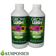 1 LITRE GROWLUSH HYDRO GROW PART A&B High Quality Nutrients For Hydroponics