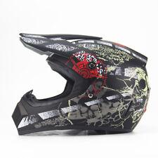 Unisex Motocross Off Road Helmet ATV Crash Quad Mx Sun Visor Enduro Matt Black