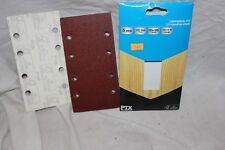1/3 SANDING SHEET 5 piece  fine 120 grit 93 x 185 mm Hook & Loop (Bin 17)