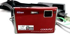 Nikon COOLPIX S60 10.0MP Digital Camera - Crimson red w/ Battery and charger