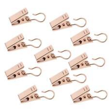 10Pcs Window Curtain Hook Clips Door Panel DIY Hanger Clothes Peg 32mm Gold