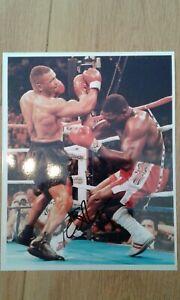 Frank Bruno Hand 10x8 gloss photo signed  v Tyson