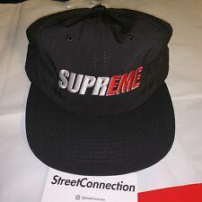 77affd8973e66 Supreme 2 Tone Nylon 6 Panel Hat NWT Black Box Logo Red Grey Blue White