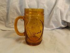 Amber Glass Embossed Betsy Ross/American Flag 1776 Mug