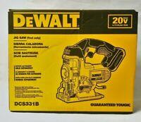 New DeWalt DCS331B 20V Cordless Battery Variable Speed Jig Saw Max 20 Volt Blade