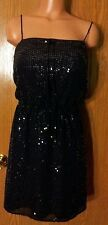 Victoria's Secret Ludi Sexy Dressy Black Sequin Summer Beach Dress Small NWOT