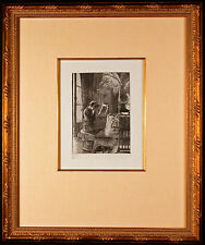Orig. Renee Mauperin Etching by James Jacques TISSOT Signed in the Plate