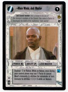 Star Wars CCG Theed Palace Mace Windu Jedi Master AI Alternate Image Rare