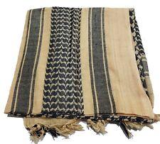 100% coton arabe Military SHEMAGH FOULARD KEFFIEH VOILE KAKI & beige noir