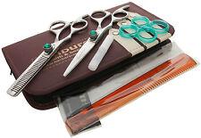 "Pro 6"" Hairdressing Barber Hair Cutting Thinning Razor Scissor Left handed Green"