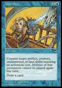 MTG 4x INTERDICT - Tempest *Draw Card Counter*