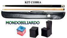 KIT STECCA DA BILIARDO COBRA 105 - CALCIO + PUNTALE - POOL 8-15 - PUNTA 13mm