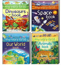Usborne My Very First Space Book,Our World,Animals & Dinosaurs Book (Board Book)